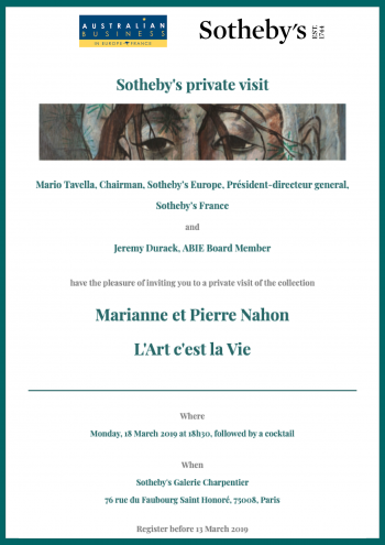 Sotheby's private visit: Collection of Marianne and Pierre Nahon | L'Art c'est la Vie