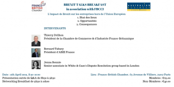 The impact of Brexit on businesses outside of the European Union in association with FBCCI