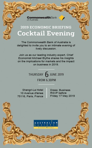 Commonwealth Bank of Australia Presentation & Cocktail 2019
