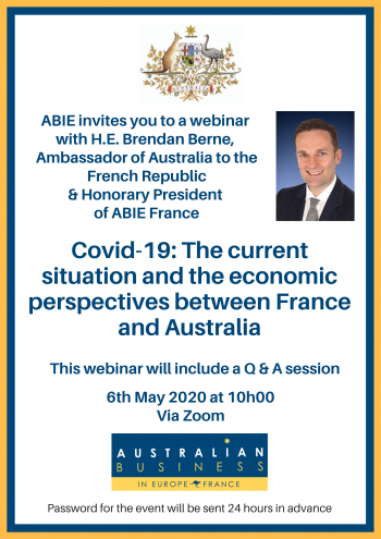 ABIE France  Webinar with H.E. Brendan Berne, Ambassador of Australia to the French Republic and Honorary President of ABIE France